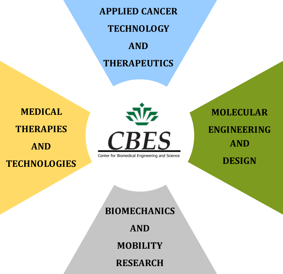 Applied Cancer Technology and Therapeutics, Molecular Engineering and Design, Biomechanics and Mobility Research, Medical Therapies and Technologies